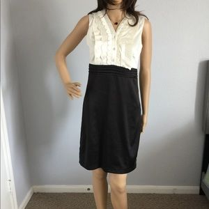 Charlotte Russe Black Ivory Ruffle Dress